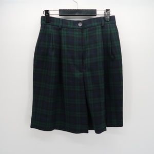 JH Collectibles Green Black Plaid Skorts Size 10
